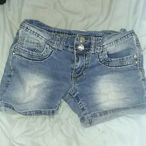 Cute Diamond Button Bongo Shorts
